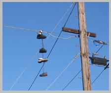 overhead powerline